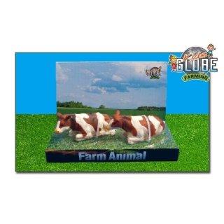 KIDS KLOBE 6-571876 2 x Kuh Rot/ weiß liegend