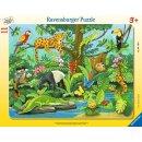 Ravensburger 8-17 T. Rahmenpuzzles - 5140 Tiere im Regenwald