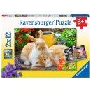 Ravensburger 2 X 12 Teile - 5144 Kleine Kuschelzeit