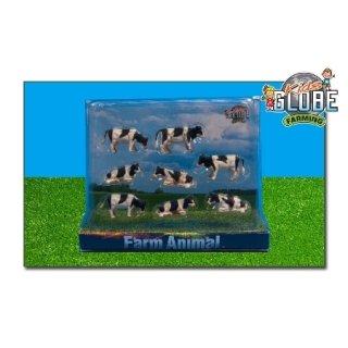 KIDS GLOBE 6-571878 Kühe schwarz weiß liegend und stehend