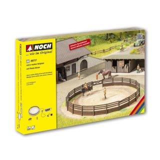 NOCH 66717 - micro-motion Reitplatz mit Pferde-Boxen H0