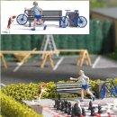 Busch 7899 Action-Set: Frisbeespiel mit Hund