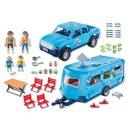 PLAYMOBIL 9502 Playmobil-Pick-Up mit Wohnwagen