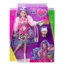 Barbie GXF08 Barbie Extra Puppe mit lila-welligen Haaren