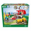 BRIO World 33989 Großes City Bahnhof Set
