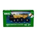 BRIO  33630 Goldene Batterielok mit Licht und Sound