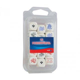 Noris 606151045 - Pokerwürfel Holz 16mm