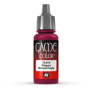 Vallejo Game Color: 014 Warlord Purple, 17 ml