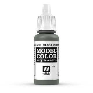 Vallejo (770863) Metallgrau, Gun Metal Metallic, 17 ml
