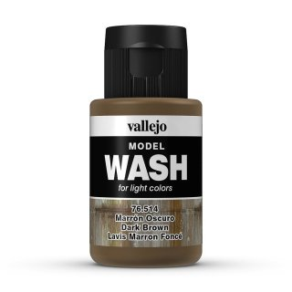 Vallejo (776514) Wash-Colour, dunkelbraun, 35 ml