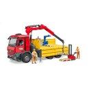 Bruder 03651 MB Arocs Baustellen LKW mit Kran,...