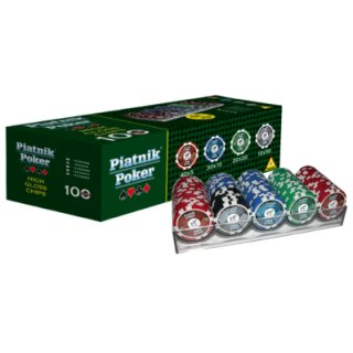 PIATNIK 790591 - Poker 100 High Gloss Chips 14g