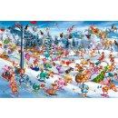 PIATNIK 535147 - PUZZLE 1000 T. Christmas Skiing