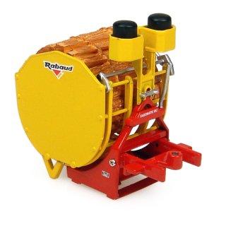 UH 4092 - Traktor Anbaugerät Rabaud Log Bundling Machine Fagomatic