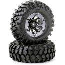 CARSON 500900557 1:10 Räderset Crawler schwarz 96mm (2)