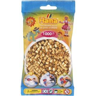 HAMA  Perlen 207-61 Beutel mit Ca. 1.000 Stk. Perlen-  Gold